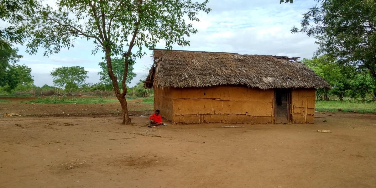 בית בכפר של שבט המסאי