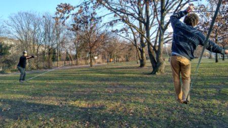 סלאקליין בפארק בברלין