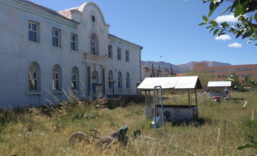 בית ספר בעיר אולגי במונגוליה