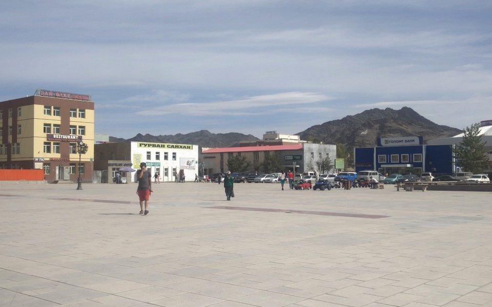 העיר אולגי במונגוליה