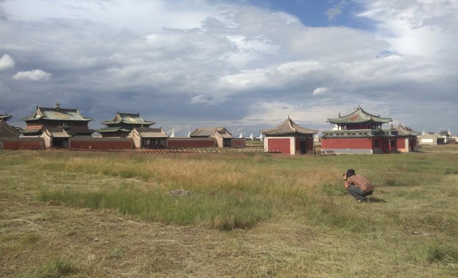 העיר חרחורין במרכז מונגוליה