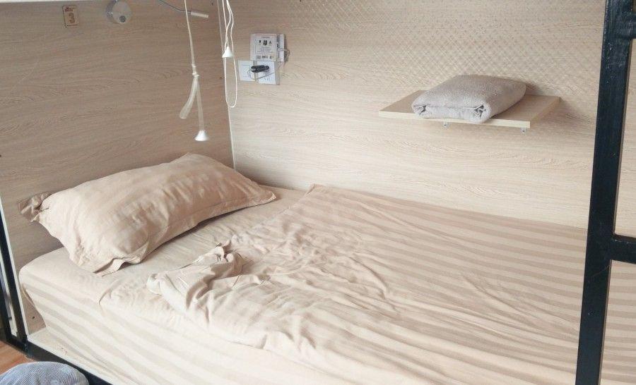 מיטה בהוסטל במונגוליה