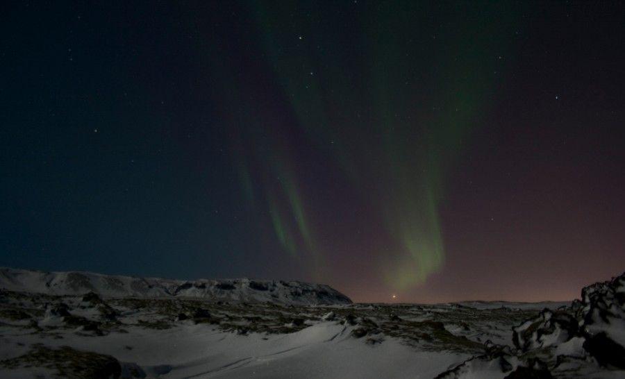אורות הזוהר הצפוני באיסלנד