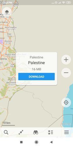 maps palestine