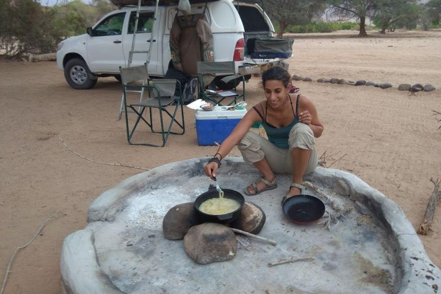 מבשלים אוכל טבעוני בנמיביה