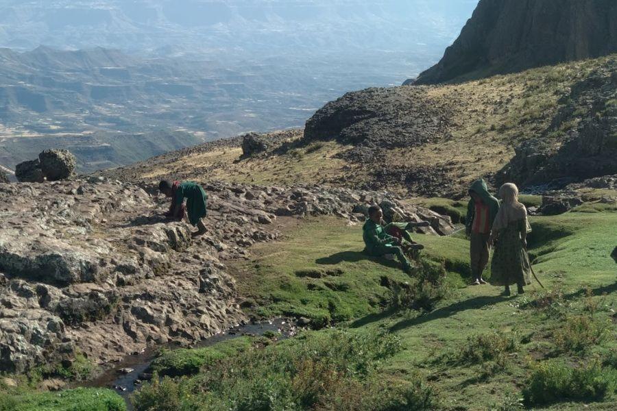 האוכלסיה המקומית של הכפרים באבונה יוסף אתיופיה